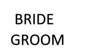 BRIDE、GROOM