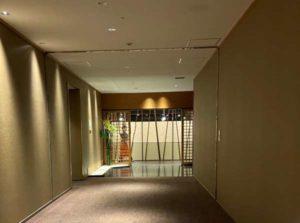 東京マリオットホテル和食レストランの入り口
