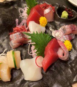 東京マリオットホテル和食レストランのお刺身