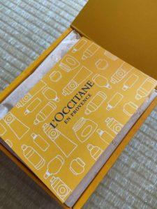 ロクシタンのメッセージカード表面