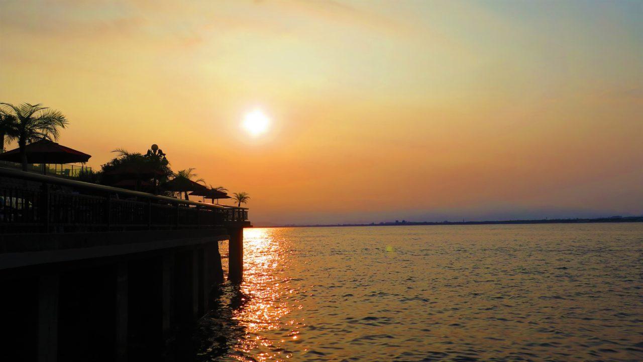 鎌倉の夕日