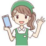 女性の携帯ショップ店員