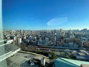 アパホテル両国のプールからの眺め