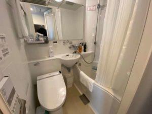 アパホテル両国の客室の浴室